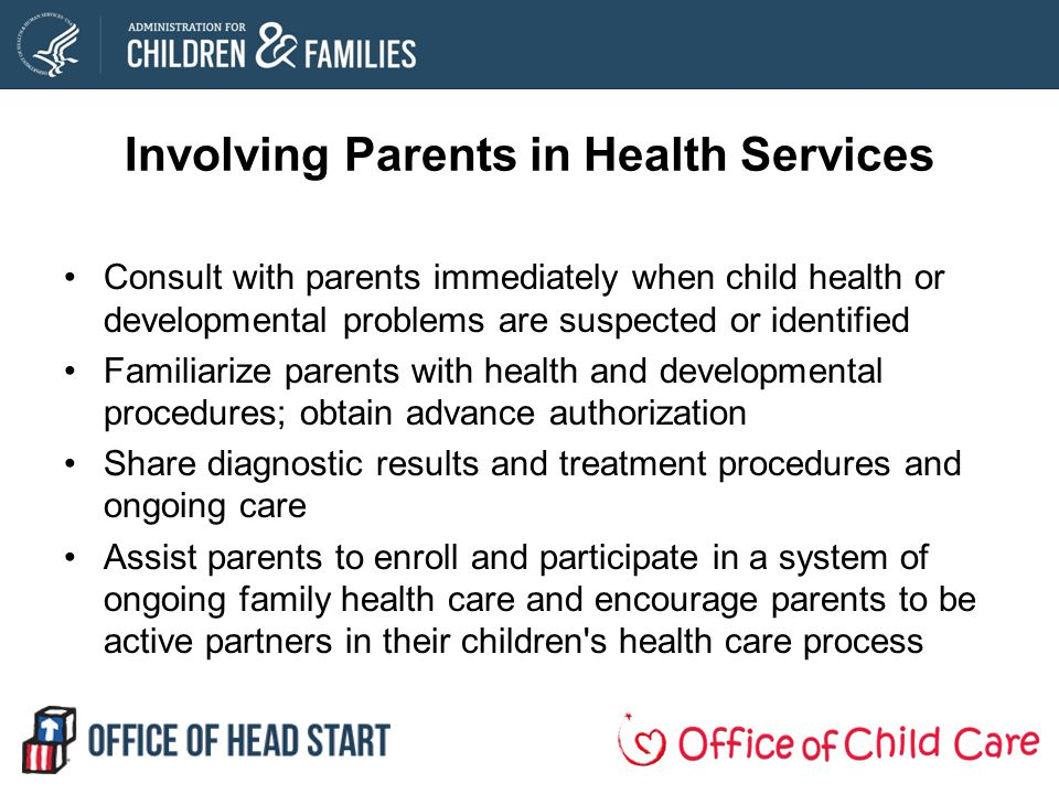 Involving Parents in Health Services