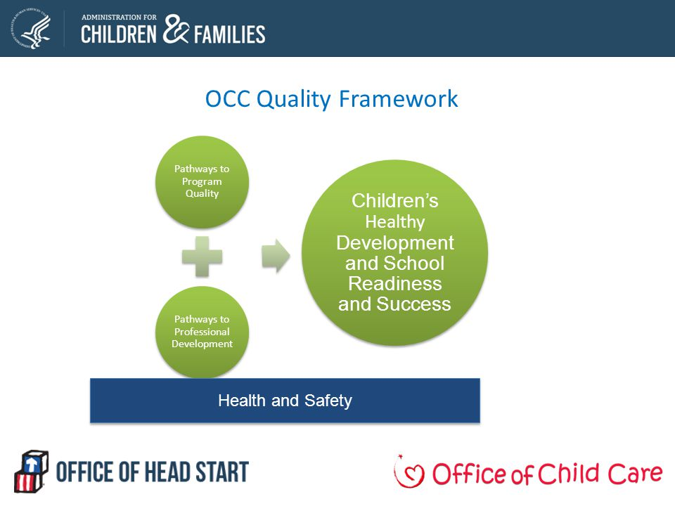 OCC Quality Framework Health and Safety Pathways to Program Quality