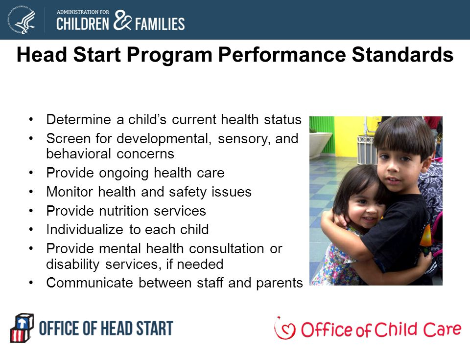 Head Start Program Performance Standards