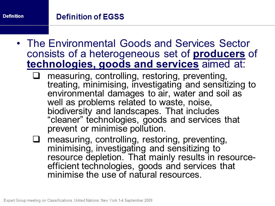 Definition of EGSS Definition.