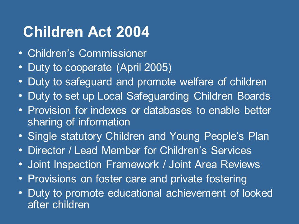 Children Act 2004 Children's Commissioner