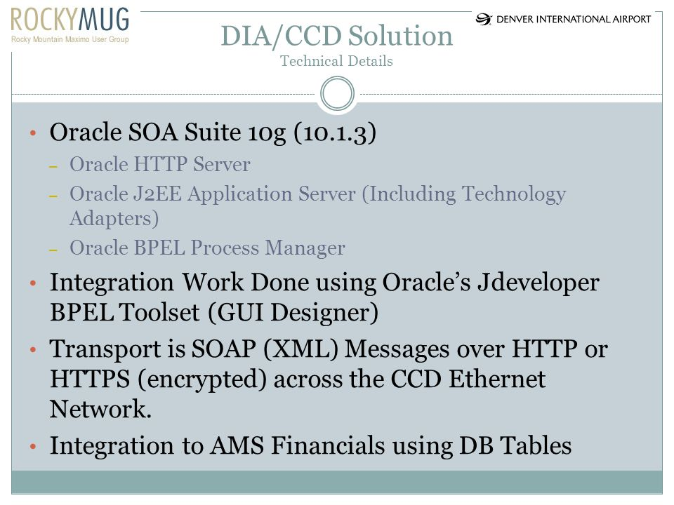 DIA/CCD Solution Technical Details