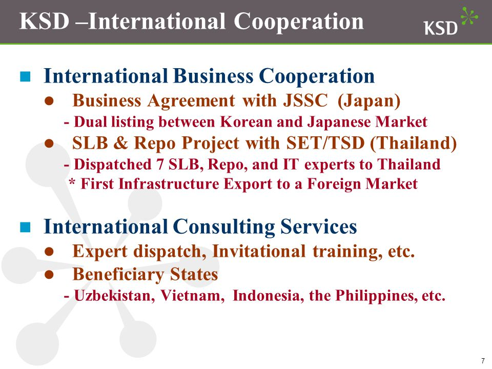 KSD –International Cooperation
