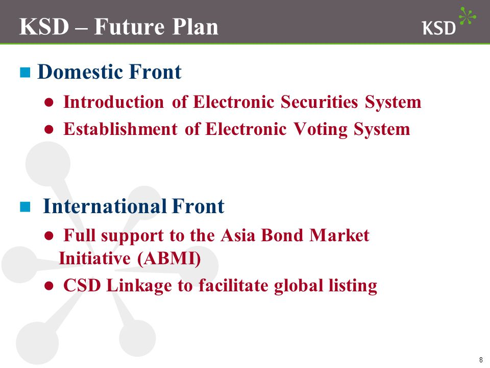 KSD – Future Plan Domestic Front International Front