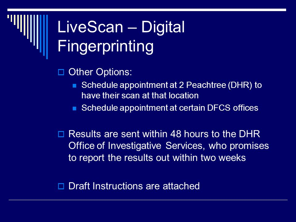 LiveScan – Digital Fingerprinting