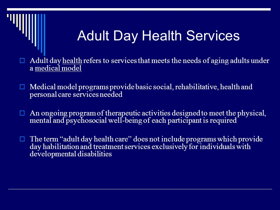 Adult Day Health Services