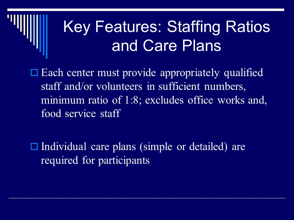 Key Features: Staffing Ratios and Care Plans