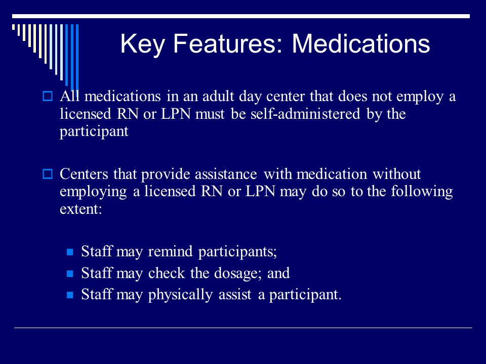 Key Features: Medications