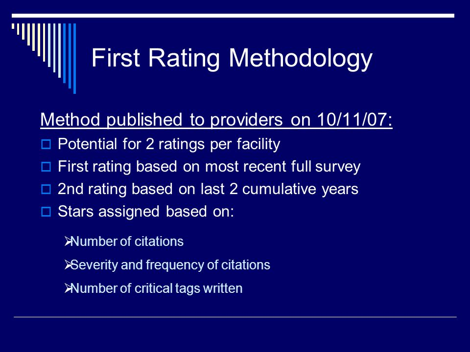 First Rating Methodology