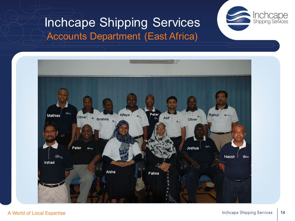Inchcape Shipping Services Accounts Department (East Africa)
