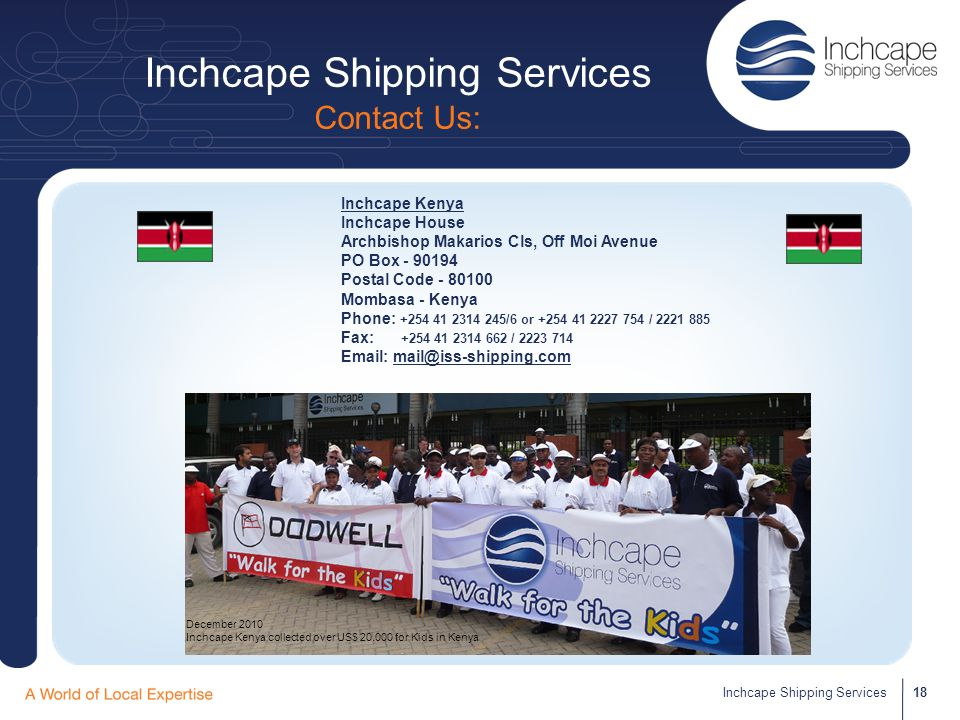 Inchcape Shipping Services Contact Us: