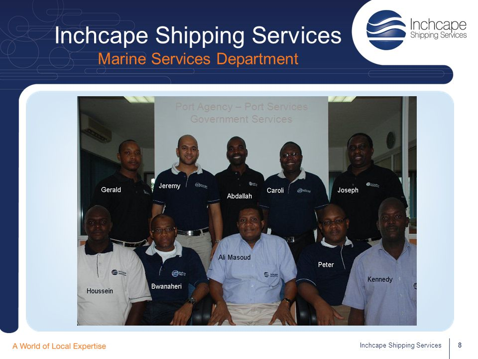 Inchcape Shipping Services Marine Services Department