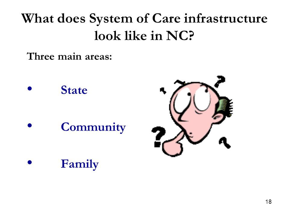 What does System of Care infrastructure look like in NC