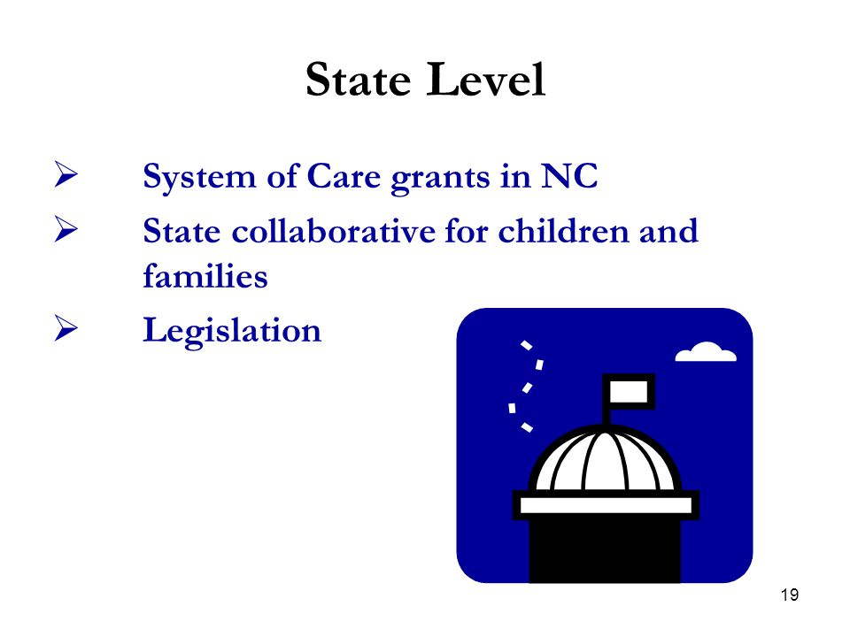 State Level System of Care grants in NC