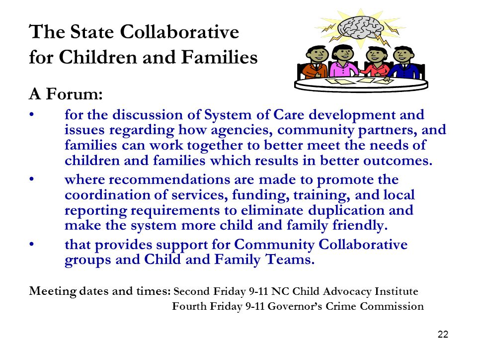 The State Collaborative for Children and Families