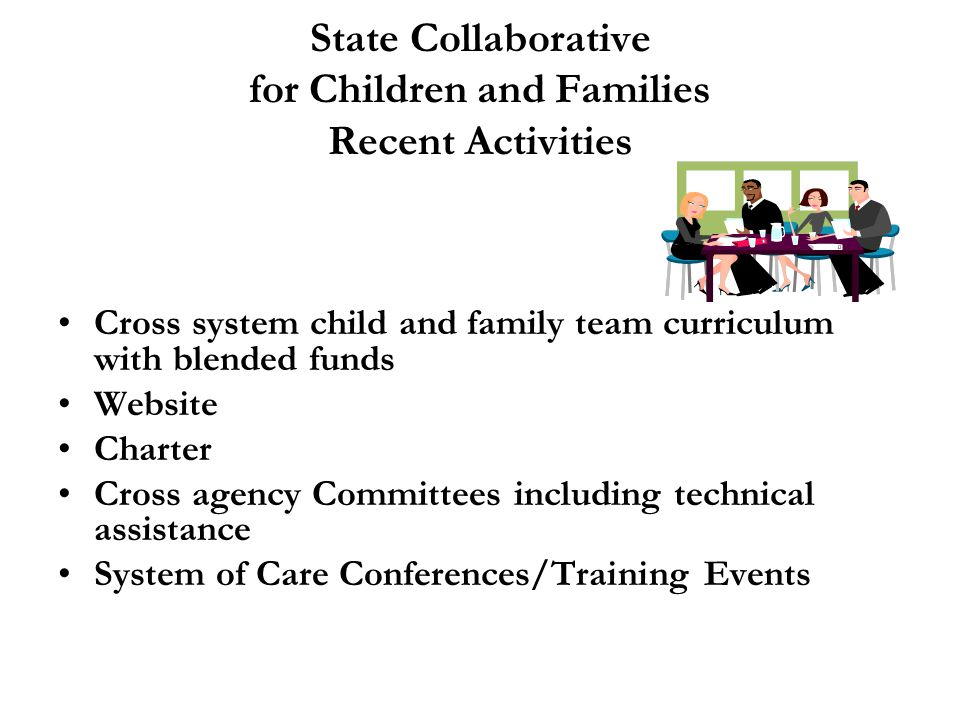 State Collaborative for Children and Families Recent Activities