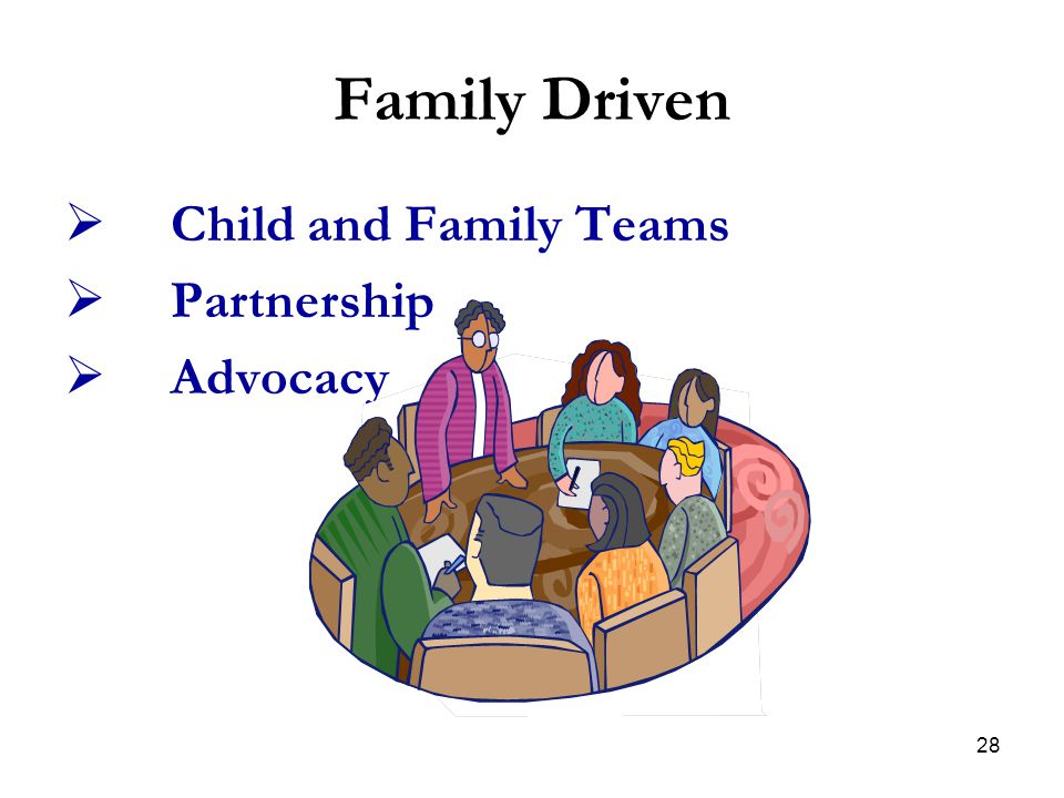 Family Driven Child and Family Teams Partnership Advocacy