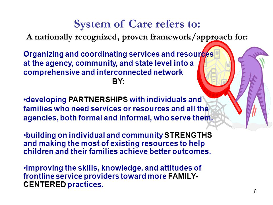 System of Care refers to: