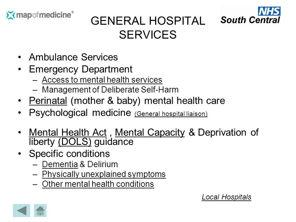 GENERAL HOSPITAL SERVICES