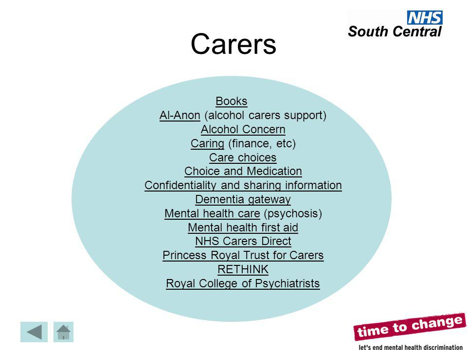 Carers Books Al-Anon (alcohol carers support) Alcohol Concern