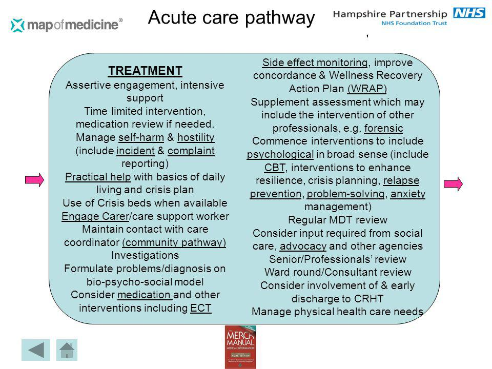 Acute care pathway TREATMENT