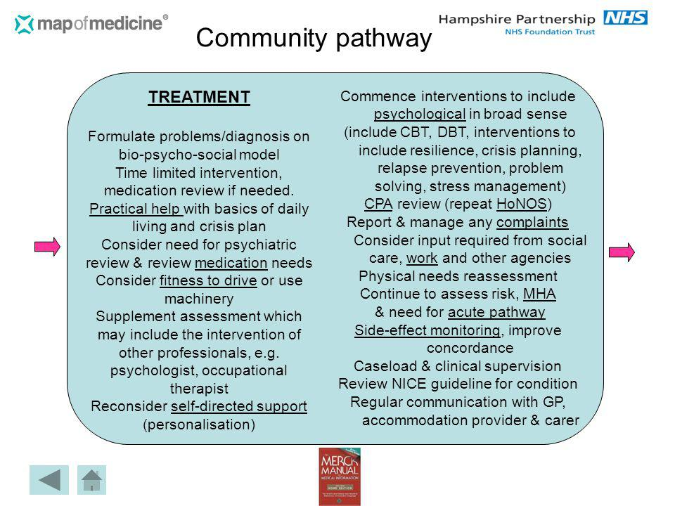 Community pathway TREATMENT