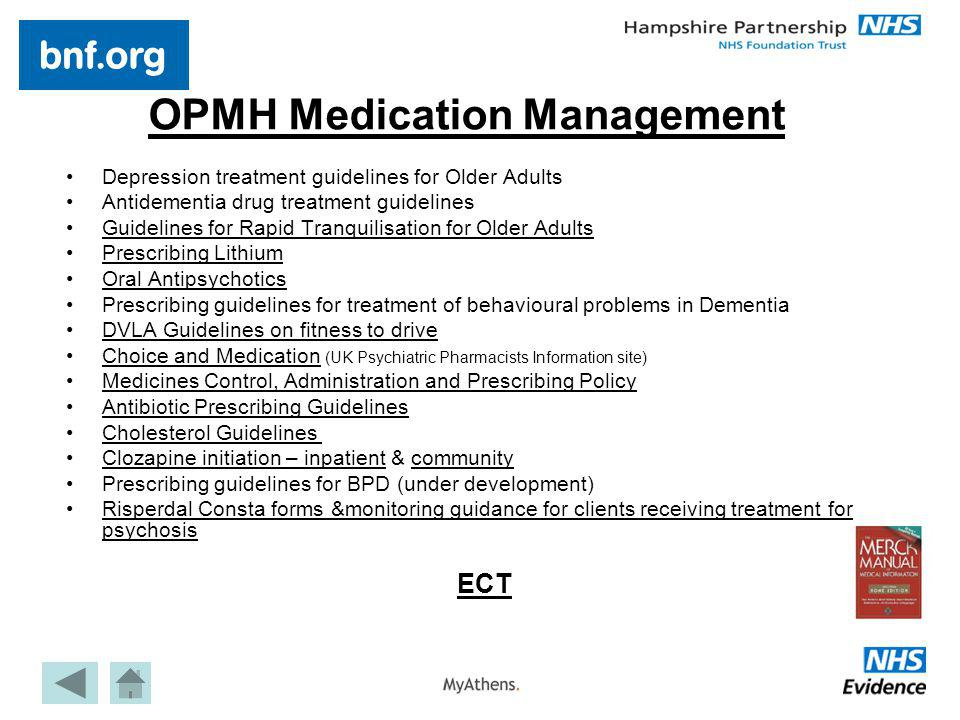 OPMH Medication Management