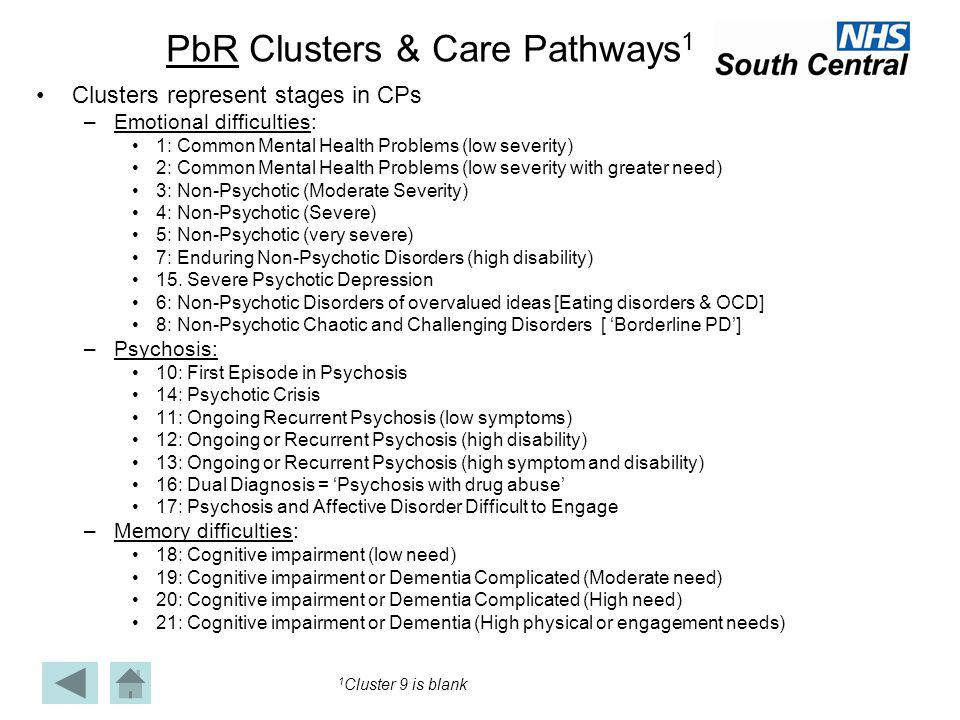 PbR Clusters & Care Pathways1
