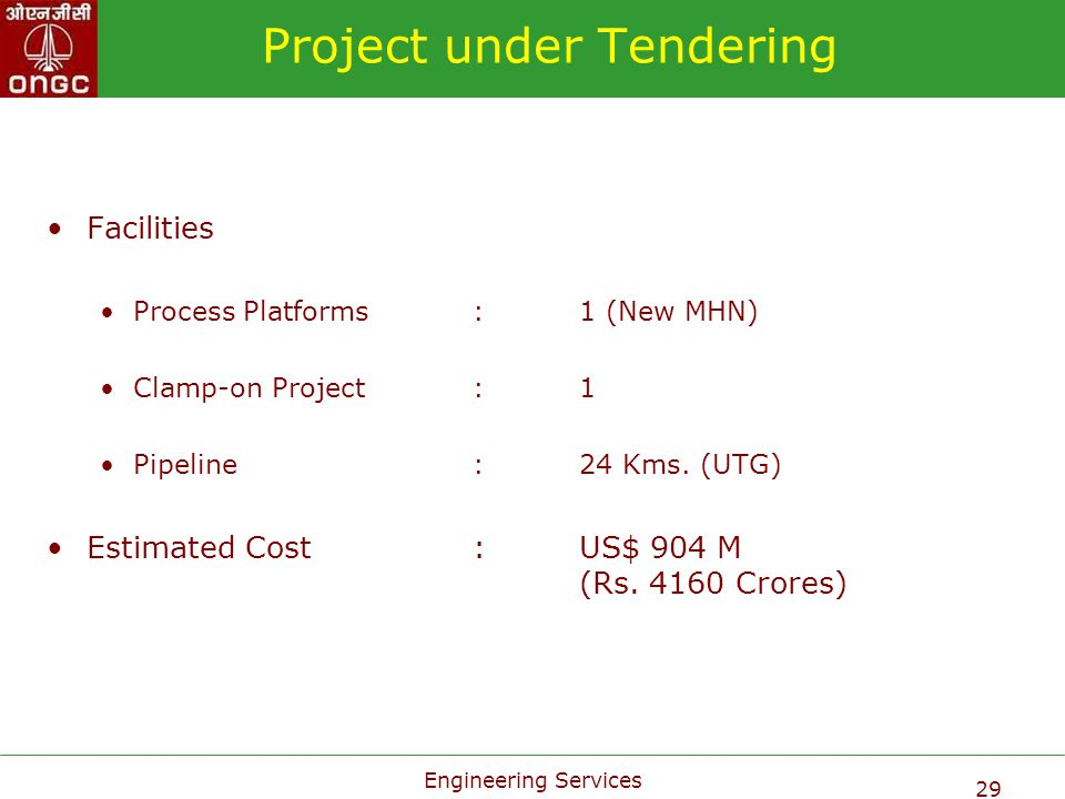 Project under Tendering