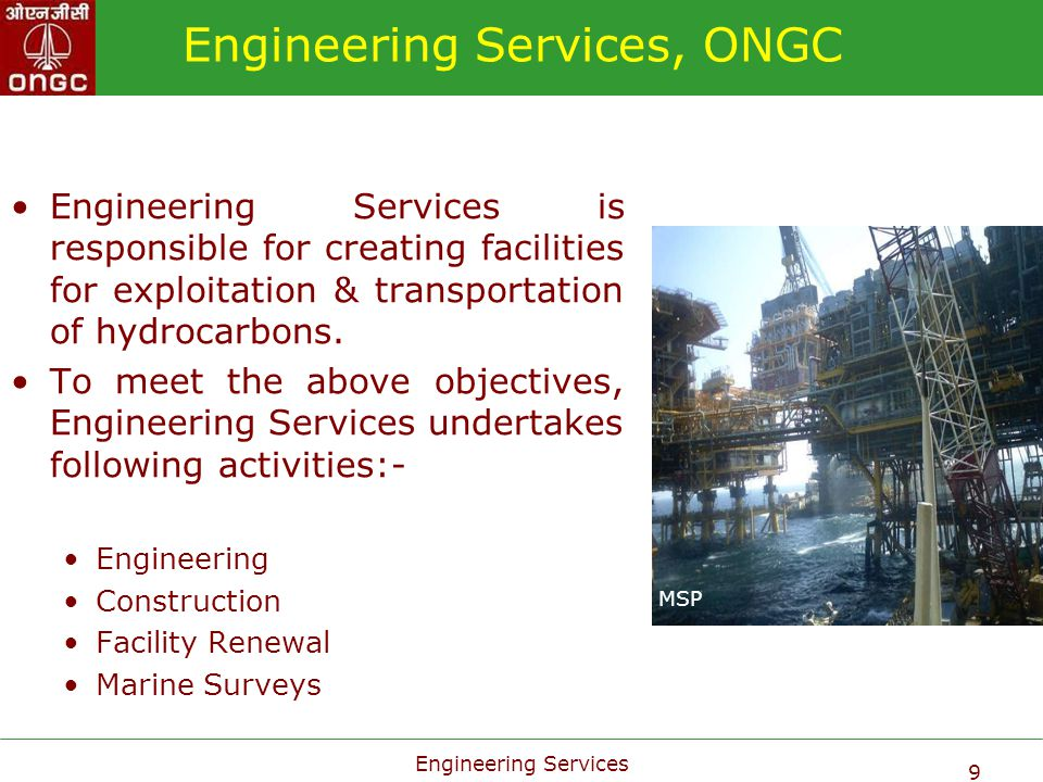 Engineering Services, ONGC