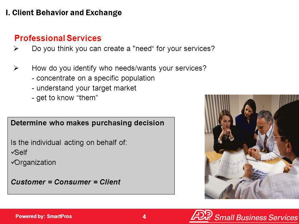 I. Client Behavior and Exchange