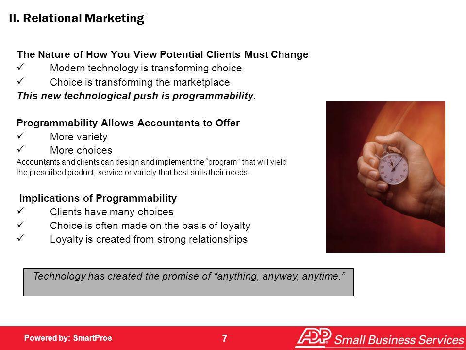 II. Relational Marketing