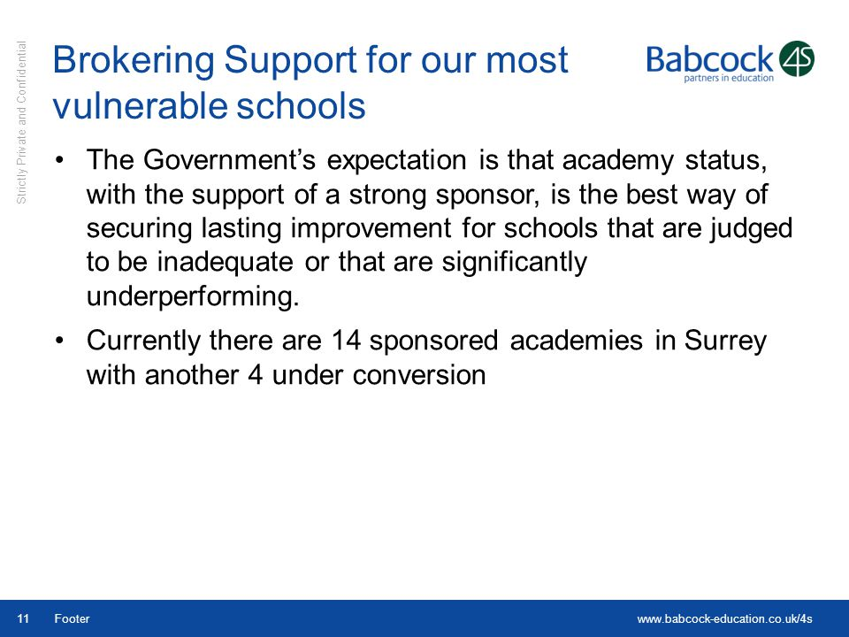 Brokering Support for our most vulnerable schools