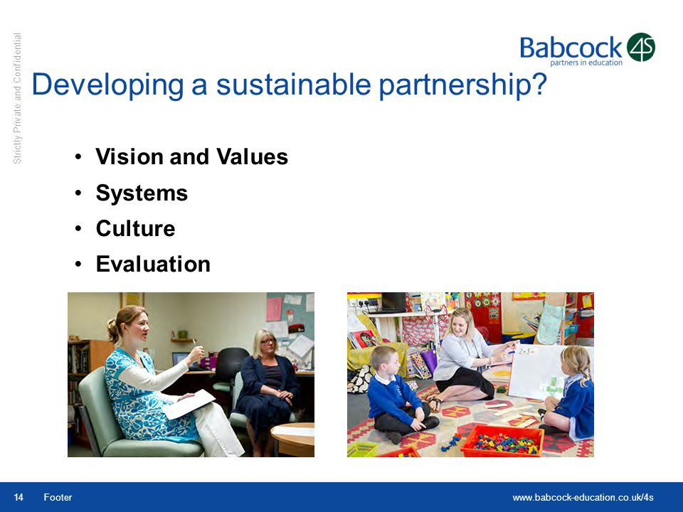 Developing a sustainable partnership