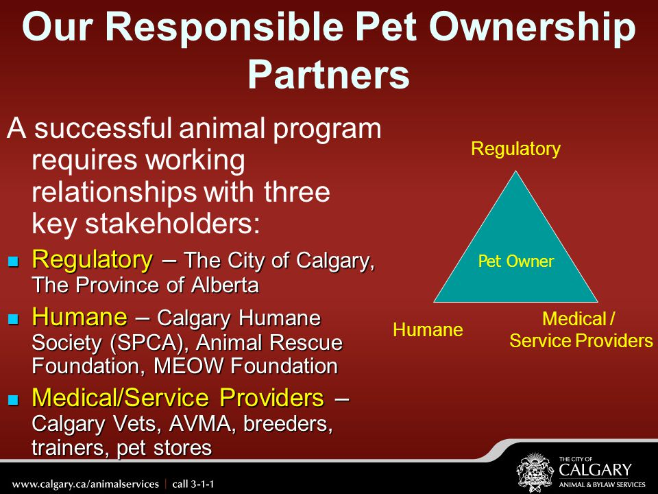Our Responsible Pet Ownership Partners