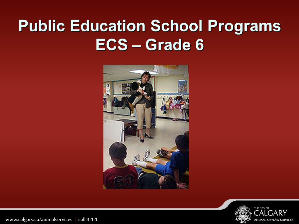 Public Education School Programs ECS – Grade 6