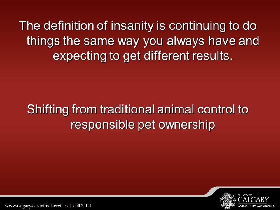 Shifting from traditional animal control to responsible pet ownership