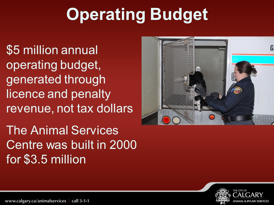 Operating Budget $5 million annual operating budget, generated through licence and penalty revenue, not tax dollars.