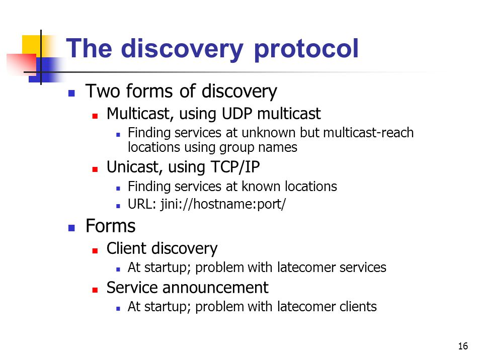 The discovery protocol