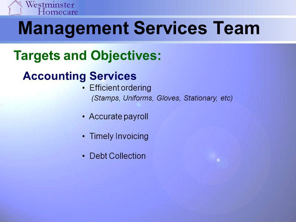 Management Services Team