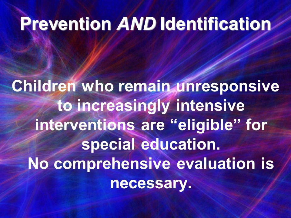 Prevention AND Identification
