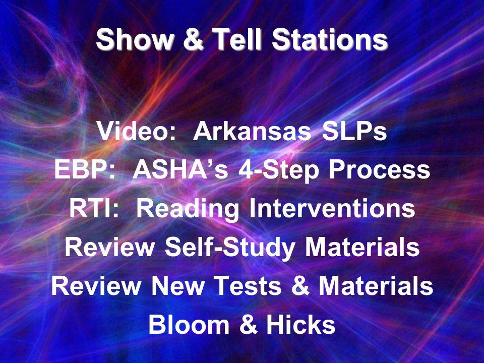 Show & Tell Stations Video: Arkansas SLPs EBP: ASHA's 4-Step Process