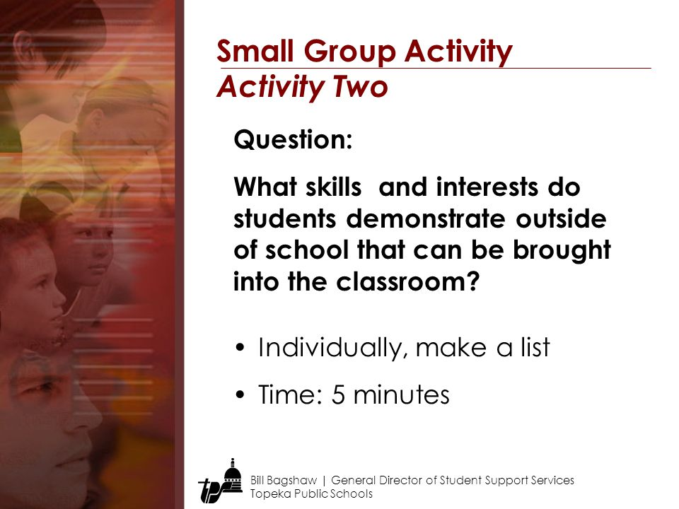 Small Group Activity Activity Two Question: