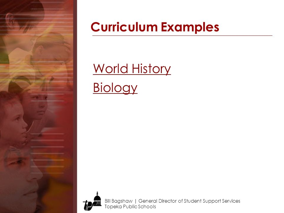 Curriculum Examples World History Biology