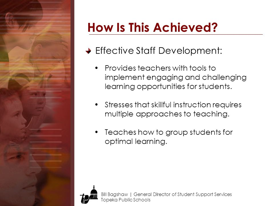 How Is This Achieved Effective Staff Development: