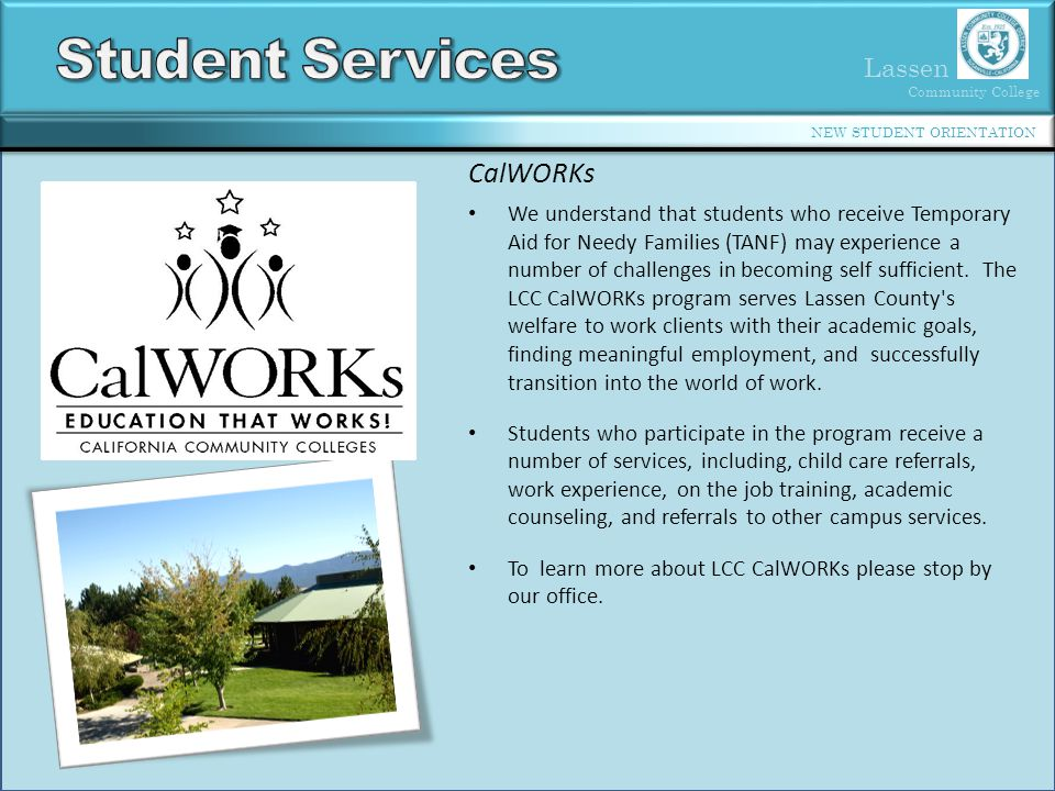 Student Services CalWORKs