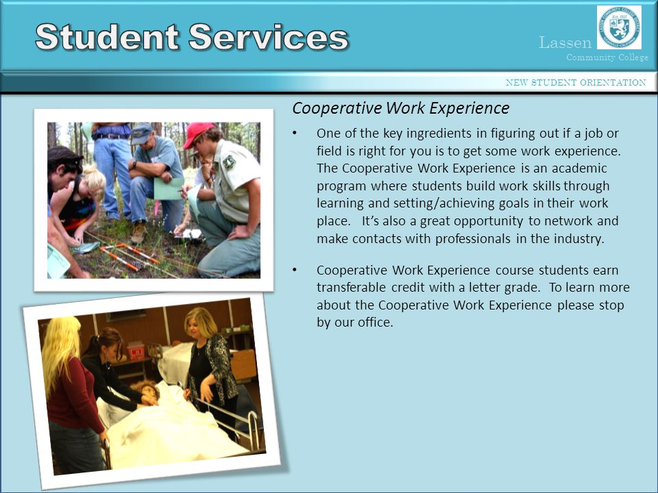 Student Services Cooperative Work Experience