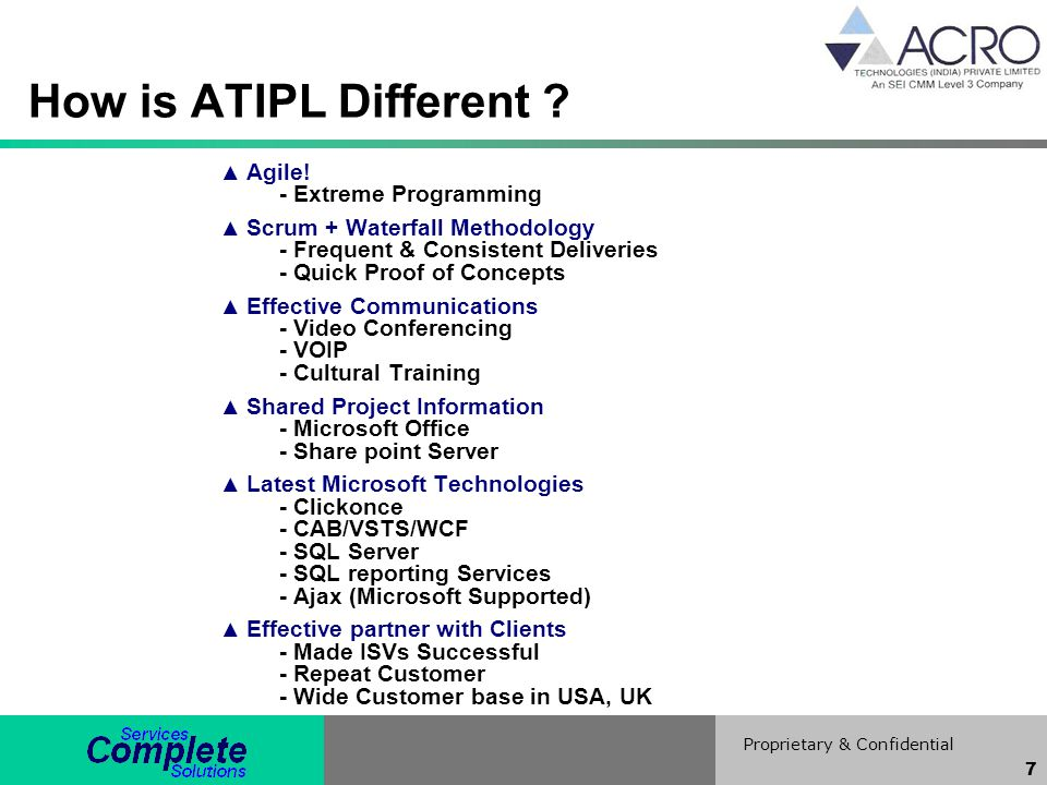 How is ATIPL Different Agile! - Extreme Programming