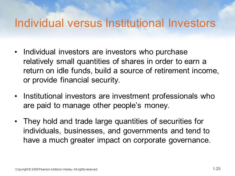 Individual versus Institutional Investors