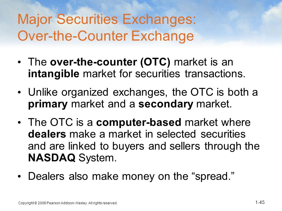 Organized and over-the-counter securities Essay Sample